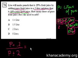 Algebra I : CA Algebra I: More Word Prob... Volume Test Prep series by Sal Khan