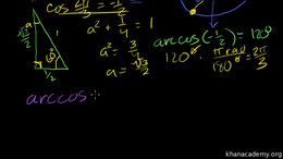 Inverse trig functions : Inverse Trig Fu... Volume Basic trigonometric ratios series by Sal Khan