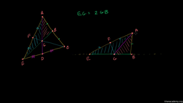 Medians and centroids : Proving that the... Volume Geometry series by Sal Khan