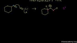 Alkene reactions : hydrohalogenation Volume Organic Chemistry series by Sal Khan