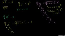 Exponent properties : Radical Expression... Volume Algebra series by Sal Khan
