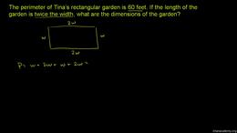 Equations for beginners : Example: Dimen... Volume Algebra series by Sal Khan