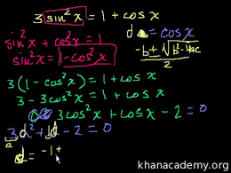 More trig examples : Fun Trig Problem Volume Trigonometry and precalculus series by Sal Khan