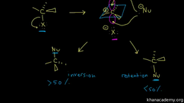 SN1 and SN2 : SN1 reaction: stereochemis... Volume Organic Chemistry series by Sal Khan