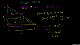 Medians and centroids : Median Centroid ... Volume Geometry series by Sal Khan