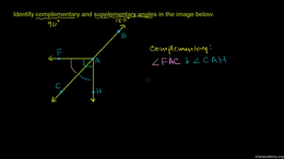 Angles : Identifying Complementary and S... Volume Angles series by Sal Khan