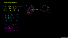 Fancier systems : Systems of Three Varia... Volume Trigonometry and precalculus series by Sal Khan