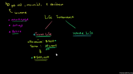 Life insurance : Term and Whole Life Volume Finance and capital markets series by Sal Khan