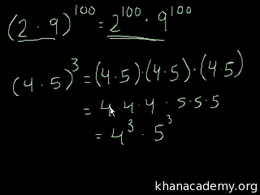 Exponent properties : Exponent Rules Par... Volume Arithmetic and Pre-Algebra series by Sal Khan