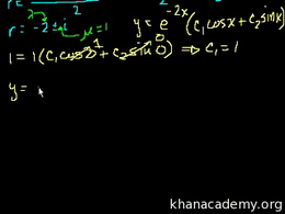 Complex and repeated roots of characteri... Volume Differential Equations series by Sal Khan
