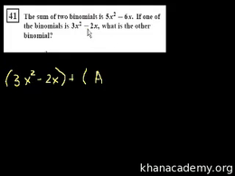 Algebra I : CA Algebra I: Simplifying Ex... Volume Test Prep series by Sal Khan