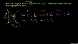 Basic trigonometric ratios : Example: Us... Volume Basic trigonometric ratios series by Sal Khan