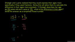 Mixed number addition and subtraction : ... Volume Arithmetic and Pre-Algebra series by Sal Khan