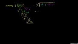 Exponent properties : Simplifying Square... Volume Algebra series by Sal Khan