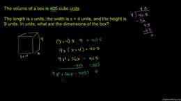 Factoring quadratics : Example 3: Solvin... Volume Algebra series by Sal Khan