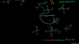 Amines in reactions : Amine in Sn2 part ... Volume Organic Chemistry series by Sal Khan