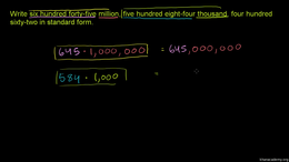 Place value : Place Value 2 Volume Arithmetic and Pre-Algebra series by Sal Khan
