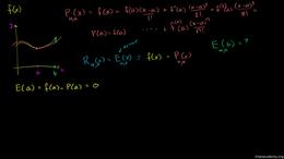 Maclaurin and Taylor series : Error or R... Volume Calculus series by Sal Khan