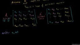 Transpose of a matrix : Determinant of T... Volume Linear Algebra series by Sal Khan