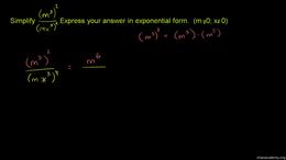 Exponent properties : Simplifying Expres... Volume Algebra series by Sal Khan