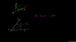 Angle bisectors : Point Line Distance an... Volume Geometry series by Sal Khan