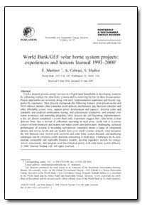 World Bank/Gef Solar Home System Project... by Martinot, E.