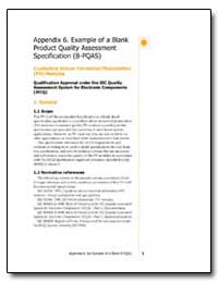 Appendix 6. Example of a Blank Product Q... by The World Bank
