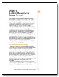Chapter 1. Quality in Manufacturing Gene... by Gupta, M. L.