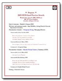 Program 2005 Oed Good Practice Awards by Zhang, Shengman