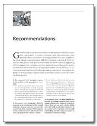 Recommendations by The World Bank