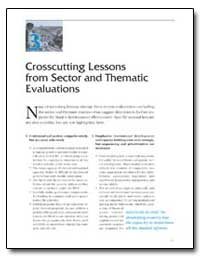 Crosscutting Lessons from Sector and The... by The World Bank