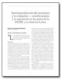 Institucionalizacion Del Monitoreo Y la ... by Shand, David