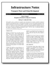 Infrastructure Notes Transport, Water an... by Archondo-Callao, Rodrigo S.