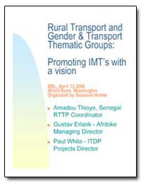 Rural Transport and Gender and Transport... by The World Bank