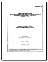 Urban Social Policy and Poverty Reductio... by Moser, Caroline O. N.