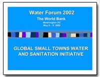 Global Small Towns Water and Sanitation ... by The World Bank