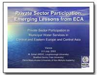 Private Sector Participation : Emerging ... by Sohail, M. M.