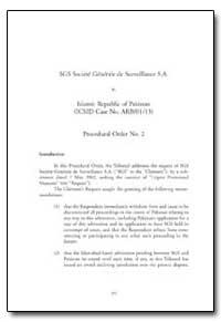 Sgs Societe Generale de Surveillance S.A by Feliciano, Florentino P., Judge