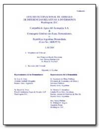 Centro Internacional de Arreglo de Difer... by Rezek, Francisco, Judge