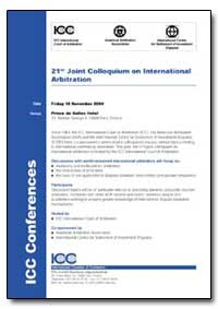 21St Joint Colloquium on International A... by Briner, Maitre Robert