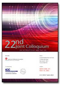 22Nd Joint Colloquium on International A... by Briner, Maitre Robert