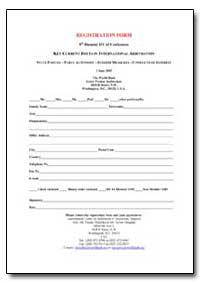 Registration Form 8Th Biennial Ifcai Con... by Nitschke, Frauke