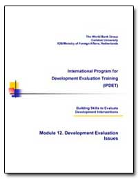 International Program for Development Ev... by Morra-Imas, Linda