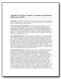 Appendix K : Chairman's Summary : Commit... by Veglio, Pietro