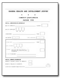 Kagera Health and Development Survey Com... by The World Bank