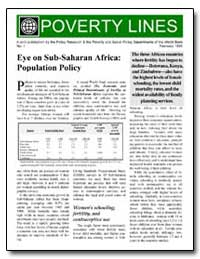 Poverty Lines : Eye on Sub-Saharan Afric... by The World Bank