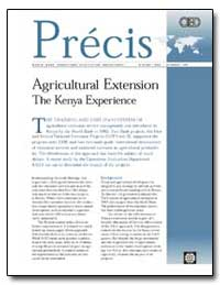 Agricultural Extension the Kenya Experie... by Gautam, Madhur