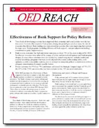 Effectiveness of Bank Support for Policy... by Anderson, Robert J.
