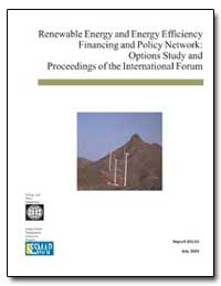 Renewable Energy and Energy Efficiency F... by The World Bank