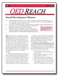 Social Development Matters by Parker, Ronald